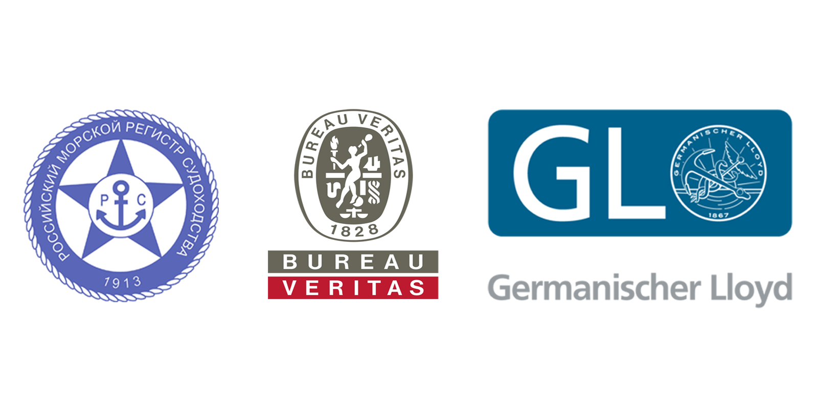RMRS, Bureau Veritas, LLoyds Register